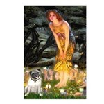 Fairies & Pug Postcards (Package of 8)