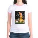 Fairies & Pug Jr. Ringer T-Shirt