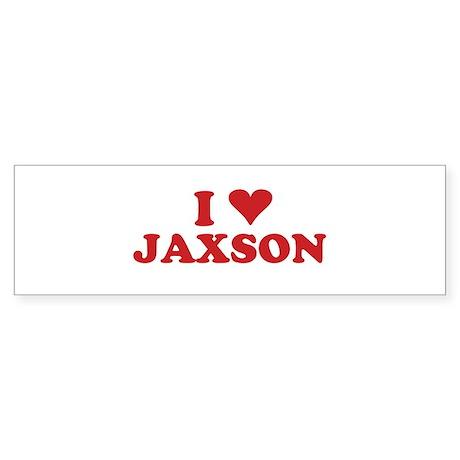 I LOVE JAXSON Bumper Sticker