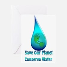 Conserve Water Greeting Card