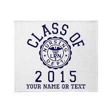 Class Of 2015 LPN Throw Blanket