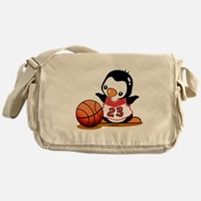Basketball Penguin Messenger Bag