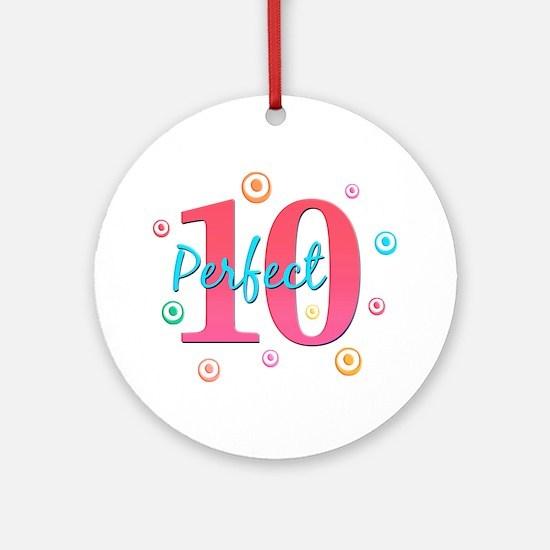 Perfect 10 Ornament (Round)