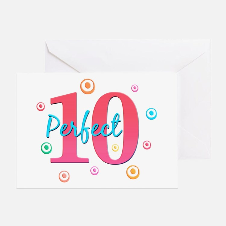 Perfect 10 Greeting Card