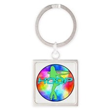 Unique Hooping Square Keychain