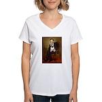 Lincoln's Pug Women's V-Neck T-Shirt