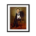 Lincoln's Pug Framed Panel Print