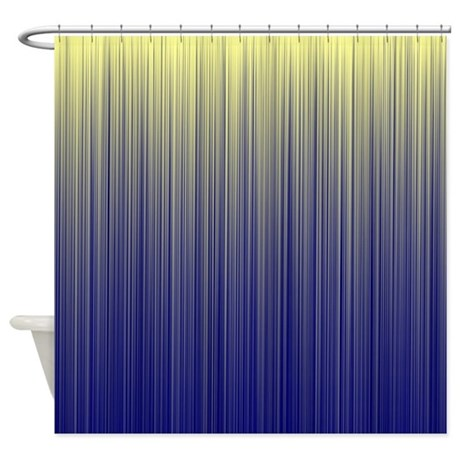 Cream And Navy Unite Shower Curtain By Admin CP11861778