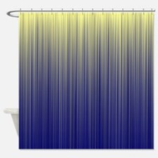 Navy And Cream Stripes Shower Curtains