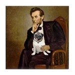 Lincoln's Pug Tile Coaster