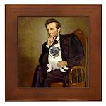 Lincoln's Pug Framed Tile