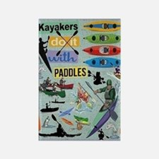 Kayakers Rectangle Magnet Magnets