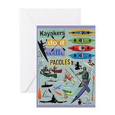 Kayakers Card Greeting Cards