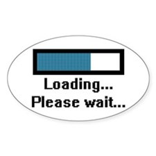 Loading... Please Wait... Oval Decal