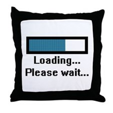 Loading... Please Wait... Throw Pillow