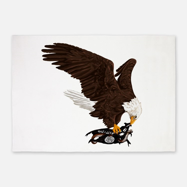 Eagle Crushes ISIS 5'x7'Area Rug
