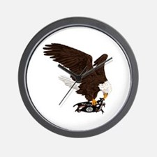 Eagle Crushes ISIS Wall Clock