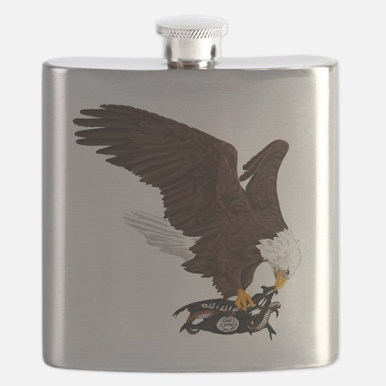 Eagle Crushes ISIS Flask