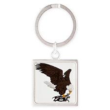 Eagle Crushes ISIS Square Keychain