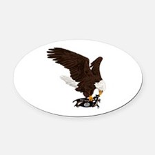 Eagle Crushes ISIS Oval Car Magnet