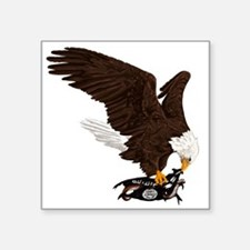 """Eagle Crushes ISIS Square Sticker 3"""" x 3"""""""