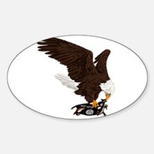 Eagle Crushes ISIS Sticker (Oval)