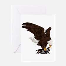 Eagle Crushes ISIS Greeting Card