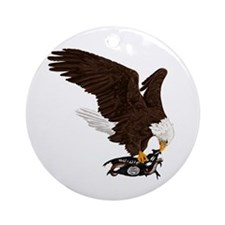Eagle Crushes ISIS Ornament (Round)