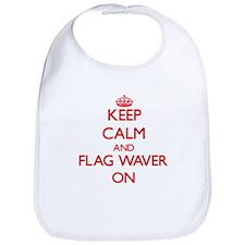 Keep Calm and Flag Waver ON Bib