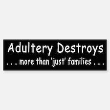 Adultery Destroys2 Bumper Bumper Bumper Sticker