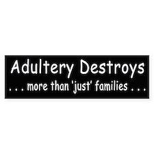 Adultery Destroys2 Bumper Bumper Sticker