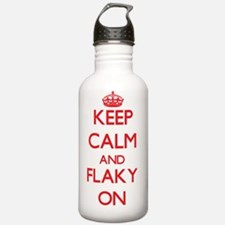 Keep Calm and Flaky ON Water Bottle