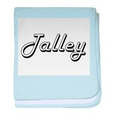 Talley surname classic design baby blanket
