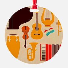 Mid Century Musical Ornament