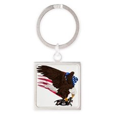 USA Destroys ISIS Square Keychain