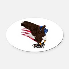 USA Destroys ISIS Oval Car Magnet