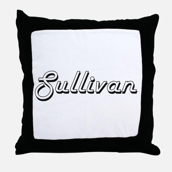 Sullivan surname classic design Throw Pillow