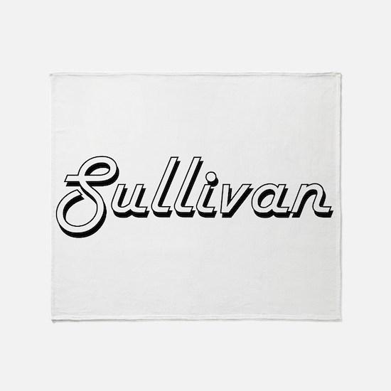 Sullivan surname classic design Throw Blanket