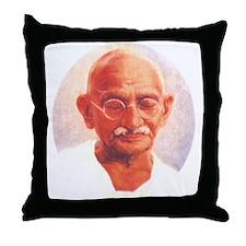 Gandhi Wisdom Throw Pillow