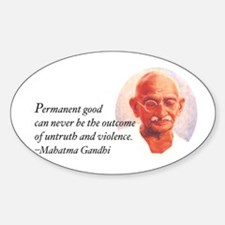 Gandhi Wisdom Oval Decal