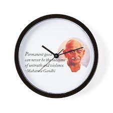 Gandhi Wisdom Wall Clock