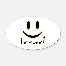 Burpee Smile Oval Car Magnet