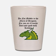 Dragon Affairs Shot Glass