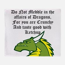 Dragon Affairs Throw Blanket