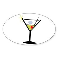 Martini Glass 1 Oval Decal
