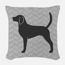 English Foxhound Woven Throw Pillow
