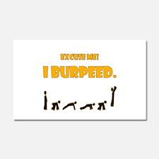 I Burpeed Car Magnet 20 x 12
