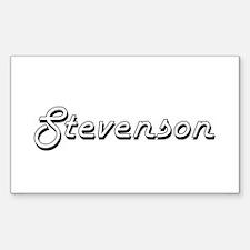 Stevenson surname classic design Decal
