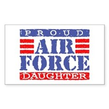 Proud Air Force Daughter Rectangle Decal