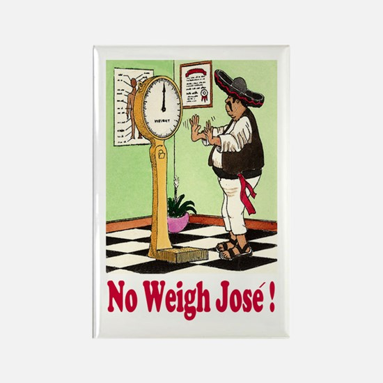 Cute Funny weight loss Rectangle Magnet
